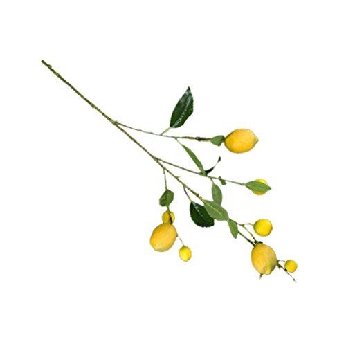 VORCOOL Künstliche Lemon Branches Gefälschte Simulation Lemon Tree Pflanzen für Blumenarrangement Hausgarten Dekoration