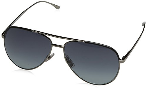 BOSS Hugo Herren 0782/S HD AGL Sonnenbrille, Schwarz (Gunmetal Black/Grey Sf), 60