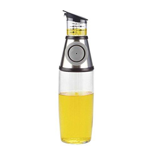 Lflasche Mit Ausgieer Spender Flasche 500 Ml Mit Ldosierer Push Dosierer Fr 10 Und 20 Ml Splmaschinenfest Aus Glas Von Amina