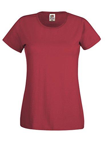 Fruit of the Loom - T-shirt - Femme Rouge - Rouge brique