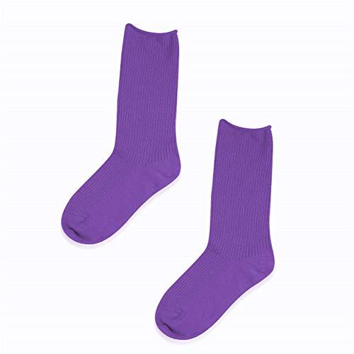 Seide Haufen (Underwear hall 1 Paar lange Socken weibliche helle Seide Haufen Socken dünnen Abschnitt in der Tube Frühjahr und Herbst Socken durchschnittliche Code, lila)