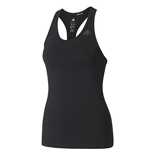 adidas D2M Tank Solid T-shirt für Damen, Schwarz, XXS (Solid Mesh-shirt)