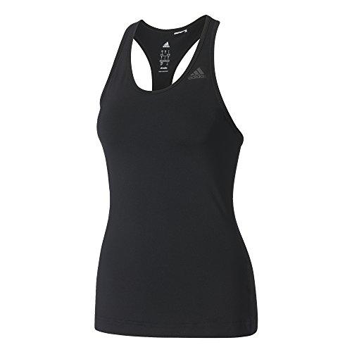 adidas D2M Tank Solid T-Shirt für Damen, Schwarz (Schwarz), S (Adidas Tennis Sport-shirt)