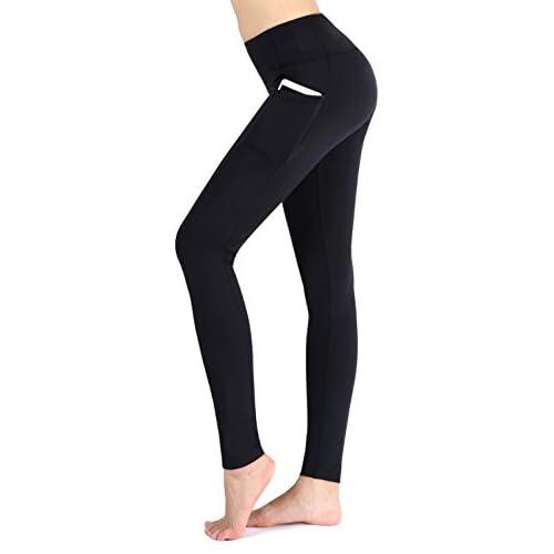 310tCVAPRvL. SS500  - Munvot Women's Running Leggings Workout Pants with Side Pockets