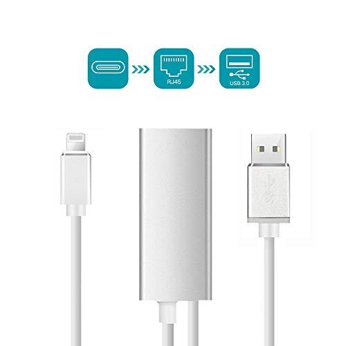 ShingYoDao RJ45 Gigabit Ethernet Adapter geeignet für 10/100 / 1000 Mbps,Superschnelles Speed LAN Wired Netzwerkadapter Kompatibel mit Phone und iPad - Wi Hotels In