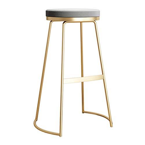 Samt gepolsterte Barhocker Backless Metal Gold Counter Height Chairs Moderne zeitgenössische Möbel Barhocker - Sitzhöhe: 65 / 75CM - Bar-height Bistro