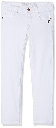 Lemmi Mädchen Jeanshose Hose Jeans Girls Skinny Slim, Weiß (Bright White 1000), 152 (Jeans Weiße Mädchen)