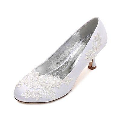 Rtry Chaussures De Mariage Pour Femmes Satin Comfort Spring Summer Wedding & Amp; Robe De Soirée Bowknot Strass Heelivory Plat Champagne Bleu Rubis Us5.5 / Eu36 / Uk3.5 / Cn35