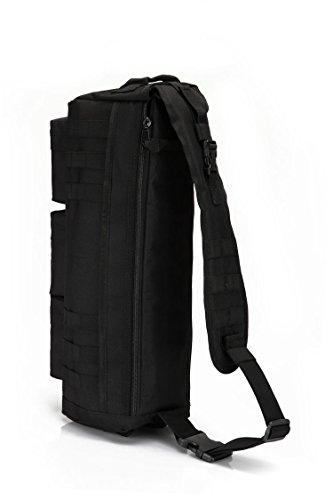 Mefly In Vielen Taktischen Camouflage Rucksack Sattel Pack Camouflage Rucksack Taktische Single Schultertasche black