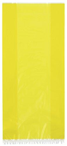 Unique Party - Paquete de 30 bolsas de regalo de celofán, color amarillo (62022)