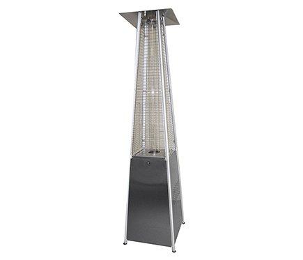 Stufa a gas butano esterna piramide-diseño moderna in acciaio inox cromato-e tubo di quarzo, ideale per terrazze, bar, jardin-casa, portatile, con garanzia butsir ruedecitas -