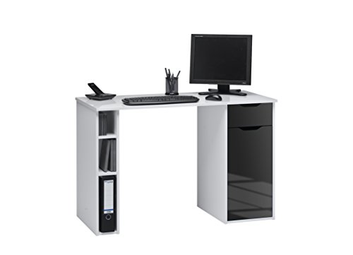 computer-desk-with-1-door-and-1-drawer-colour-white-high-gloss-black-high-gloss