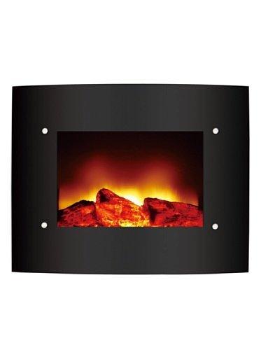 Zephir-ZFP201-Wall-mountable-fireplace-Elctrico-Negro-Chimenea-660-mm-158-mm-520-mm