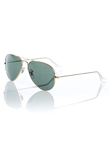 Ray-Ban Gold Grau Grun Aviator Large Metal - 55Mm Sonnenbrillen (One Size, Gold)