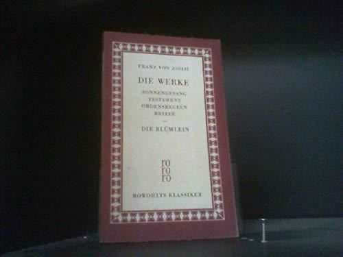 Die Werke Sonnengesang Testament Ordensregeln Briefe - Die Blümlein