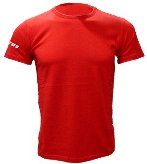 Zeus Herren T-Shirt Training Fußball Fitness Sport T-SHIRT BASIC M/C ROT (M)