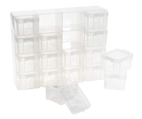 VBS Sortierbox, Setzkasten, Organizer, Aufbewahrungsbox, 16 Container mit Deckel klar für die Wand