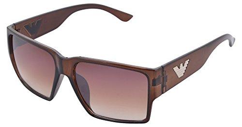 VASIDUDA UV Protected Wayfarer Unisex Sunglasses (VD20, 55 mm, Brown Lens)