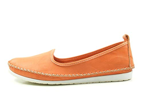 Andrea Conti Damen Slipper 0027449 Ballerina Mokassins, Schuhgröße:41 EU, Farbe:Orange