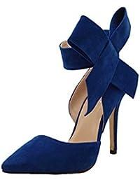 Elecenty Donna Scarpe col Tacco Vintage Stiletto Platform Pumps Stivaletti  Festa Nuziale Scarpe da Sposa con 965696b18ab