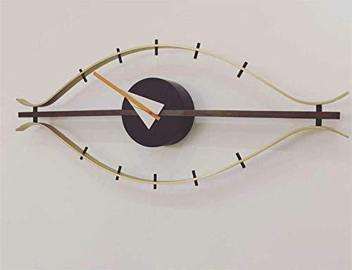 YSRHome No tickende lautlos Vintage Moderno Decoración Británica japonés Veranda Modelo Ojo Relojes de Pared para salón Dormitorio Cocina Oficina, fácil de Leer