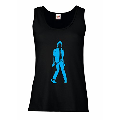 Lepni.me Camisetas sin Mangas para Mujer Me Encanta M J - Rey del Pop, 80s, 90s Músicamente Camisa...