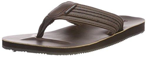 Jack & Jones Jfwbob Leather Sandal Java Infradito Uomo, Marrone, 40 EU