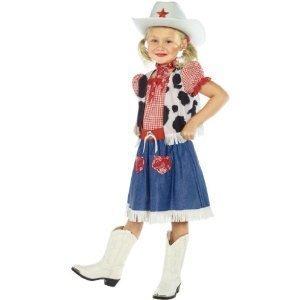 Sweetie Cowgirl Kind Kostüm - Smiffy's Girls Fantasy Cowgirl Sweetie Fancy Dress Costume 7-9yrs by Unknown