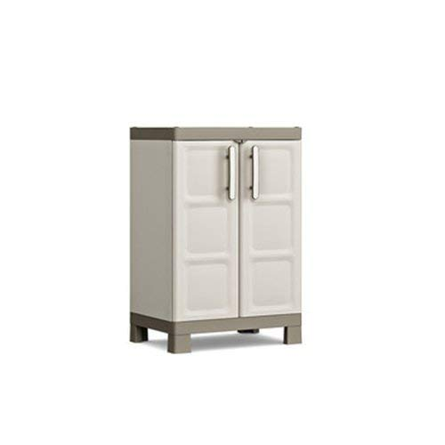 KETER   Armoire Basse EXCELLENCE, Sable /Terre, Cabinets, 65x45x97 cm