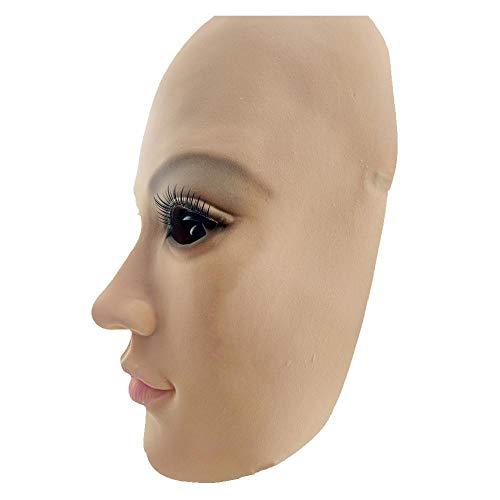 Kostüm Burlesque Dress Up - QAZXS Süß Schönheitsmaske Latex Make-up Maske volles Gesicht Cosplay Dress up Charakter