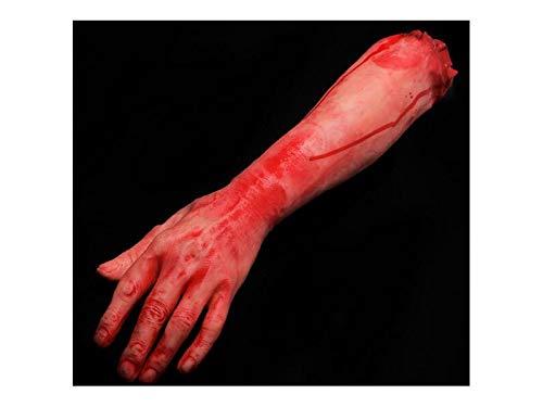 Komisch Simulation Arm Requisiten Körperteil Orgel Horror Bloody Zombie Streich Spielzeug Dekorationen für Halloween (Linke Hand) für die Dekoration