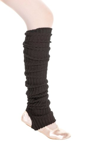 Black Stirrup Leg Warmers