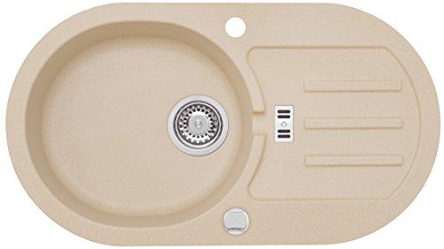 AXIS KITCHEN Malibu 30 Spülbecken Einbecken Spüle 77x43cm Material Axigranit Küchenspüle Farbe Axis Beige