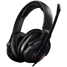 ROCCAT Khan AIMO - Auriculares Gaming 7.1 Sonido Envolvente, Audio Hi-Res (Alta definición), USB, iluminación RGB AIMO LED, Micrófono con desactivación, Negro