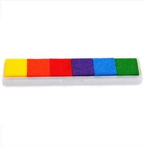 Tia-Ve Stempelkissen Inkpad Stamp Pad Fingerdruck 6 Farben NICHT TOXISCH kindersicher