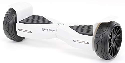 Robway X1 Hoverboard - Das Original - Street Edition - Samsung Marken Akku - Self Balance - Bluetooth Lautsprecher - 700 Watt Motor - App - Led (X1 Weiß Matt, Street)