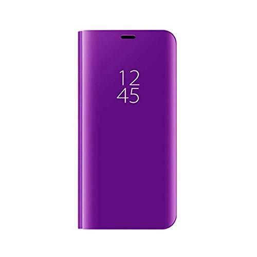 TANYO Hülle Geeignet für Xiaomi Mi 9, Perspektive Luxury Mirror Mode Ultradünne Hülle, Lila
