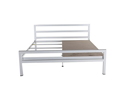 Tubestyle Blanche Queen Size Bed (White)