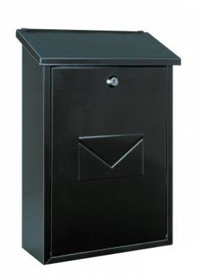 Rottner Parma Top-Loading Steel Post Box in Anthracite – Wall-Mounted Cylinder Lock Classic Premium Mailbox with Top-Loading Letter Slot