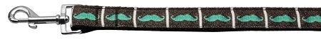 Mirage Pet Products Schnurrbart Band Halsband mit Leine, 1x 4ft, Aqua