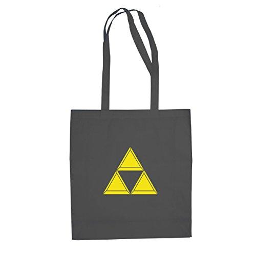 Triforce plastisch - Stofftasche / Beutel, Farbe: grau (Hyrule Warriors Twilight Princess Kostüme)