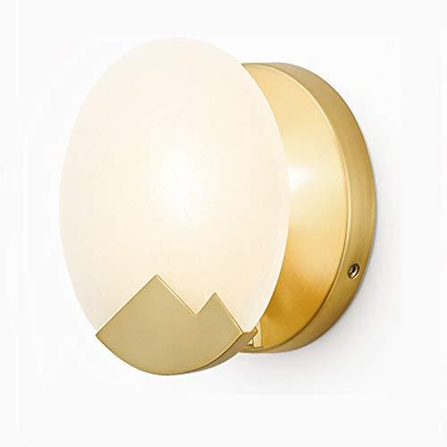 QB Nordic Messing Wandleuchte kreative postmoderne Wall Washer einfache Marmor Lampen E14 Gold Wohnzimmer Schlafzimmer Beleuchtung -