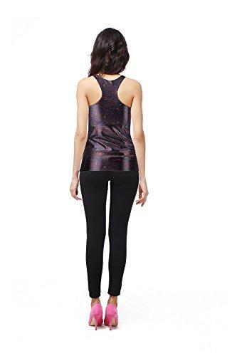 THENICE Damen Reizvolle dünne Muskelshirt ärmellos T-Shirt Weste Black