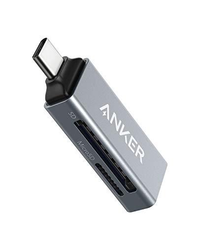 Anker - Lector de Tarjetas de Memoria USB-C 2 en 1 para SDXC, SDHC, SD,...
