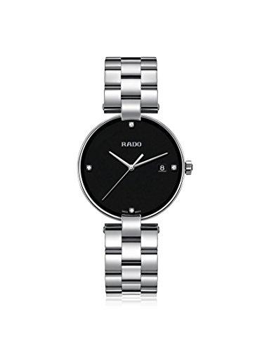 Rado COUPOLE Damen-Armbanduhr 36mm Armband Edelstahl Batterie Analog R22852703