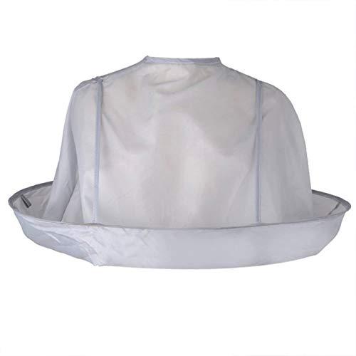 Ropa para adultos plegable Corte de pelo Bufanda Cabo Coloración del cabello Capa Paraguas Respirable Capa de peluquero para salón Hogar