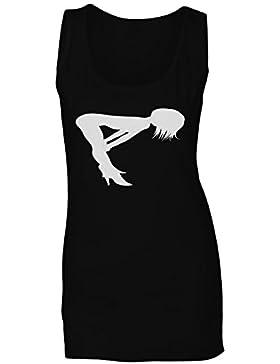 Mujer niña figura novedad arte vintage camiseta sin mangas mujer n41ft