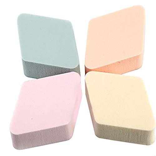4pcs / Pack maquillage poudre cosmétique mousse Blender Éponges beauté du visage Applicateur Eponges Puffs pour tous les types de peau (au hasard)