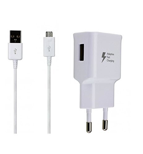 Original Samsung Aufladekabel + Datenkabel in Weiß Weiss für Galaxy Note 4 SM-N910F 2.0 USB Datenkabel Netzteil 2A Ampere 2000 mAh Adaptive Fast Charging Schnellladegerät Ladegerät Ladekabel MicroUSB SAMLW5