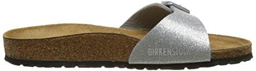 Birkenstock Madrid 0438083, Sandales Argent (Magic Galaxy Silver)